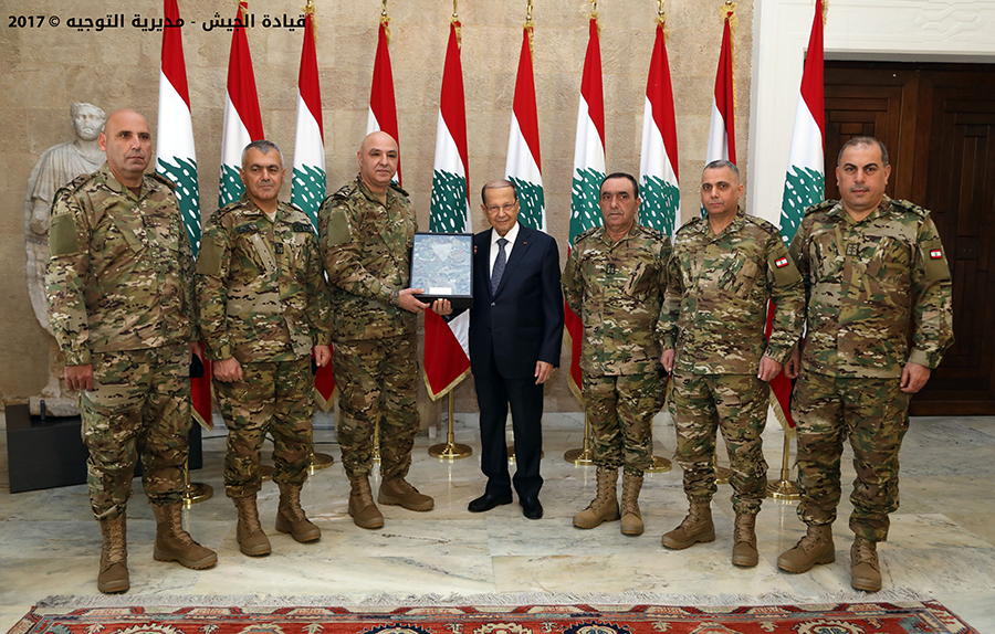 The Armed Forces Commander General Joseph Aoun presented the